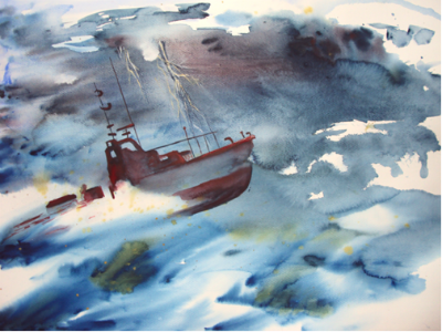 bateaux dans la tempête photos
